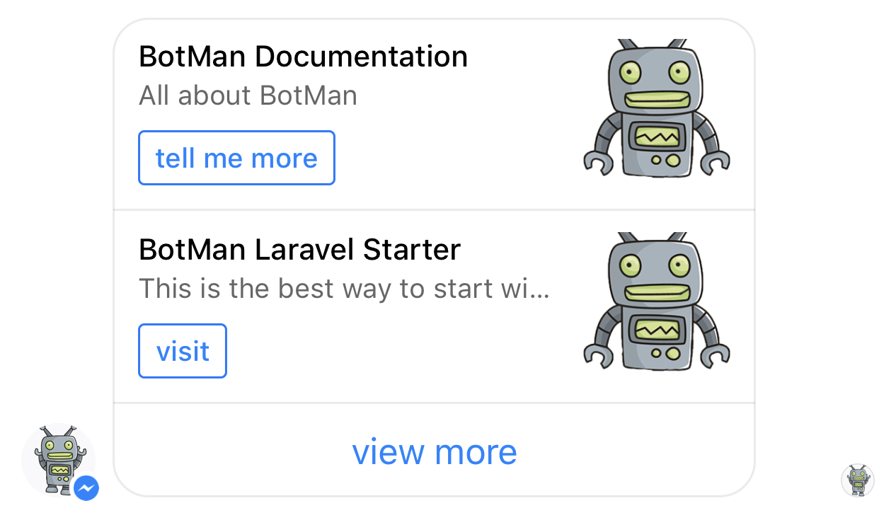 Botman Facebook Messenger